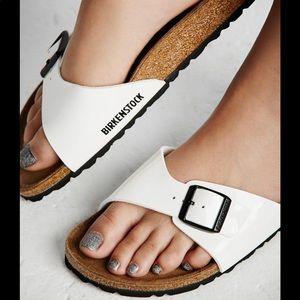🆕FREE PEOPLE x Birkenstock white slides flip-flop